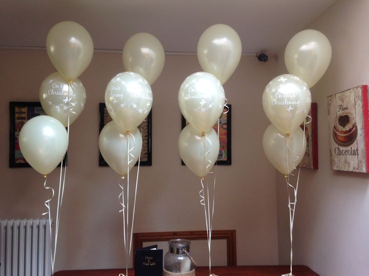 Best 25 christening balloons ideas on pinterest party for Balloon decoration ideas for christening