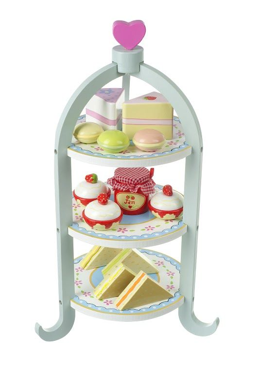 Tea for two and two for tea!  A gorgeous wooden afternoon tea set for your little ones to practice making tea for mum and dad!