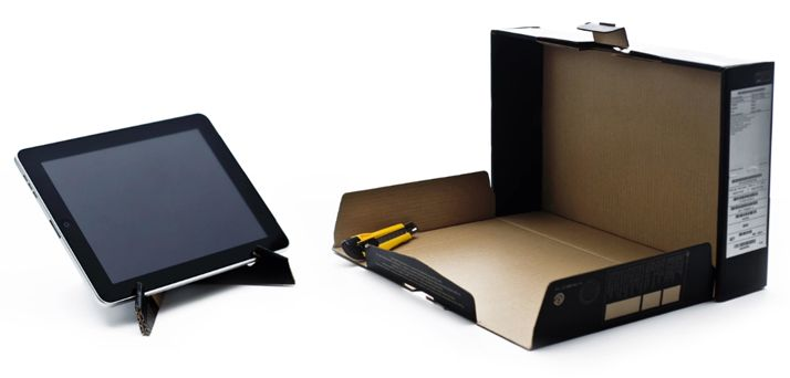 Make a DIY cardboard iPad stand from a box | How About Orange