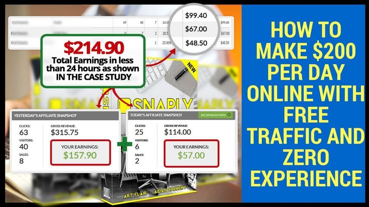 Case Study of How To Make $214.90 In Less Than 24Hr With Free Traffic an...