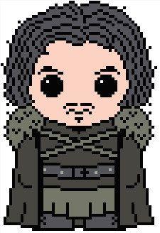 Game of Thrones: Jon Snow PDF Chart Pattern