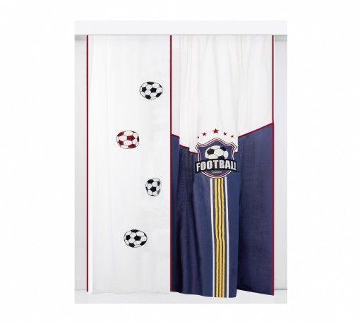 Focis Dekor Függöny #gyerekbútor #bútor #desing #ifjúságibútor #cilekmagyarország #dekoráció #lakberendezés #termék #ágy #gyerekágy #foci #football #függöny