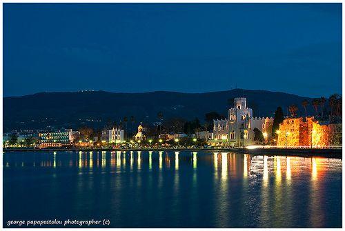 Night time in Kos, Greece