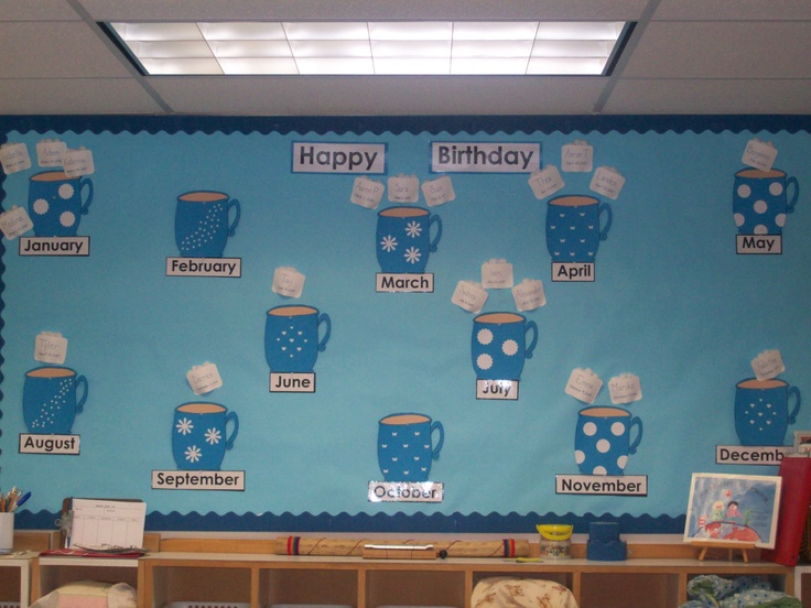 Hot Chocolate And Marshmallow Bday Board Bulletin Boards