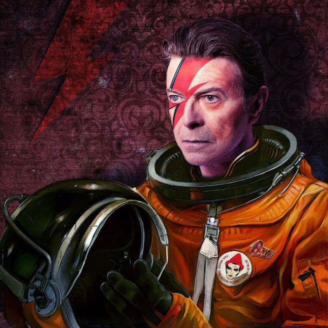David Bowie by Tom Colbie   http://tomcolbieart.tumblr.com/