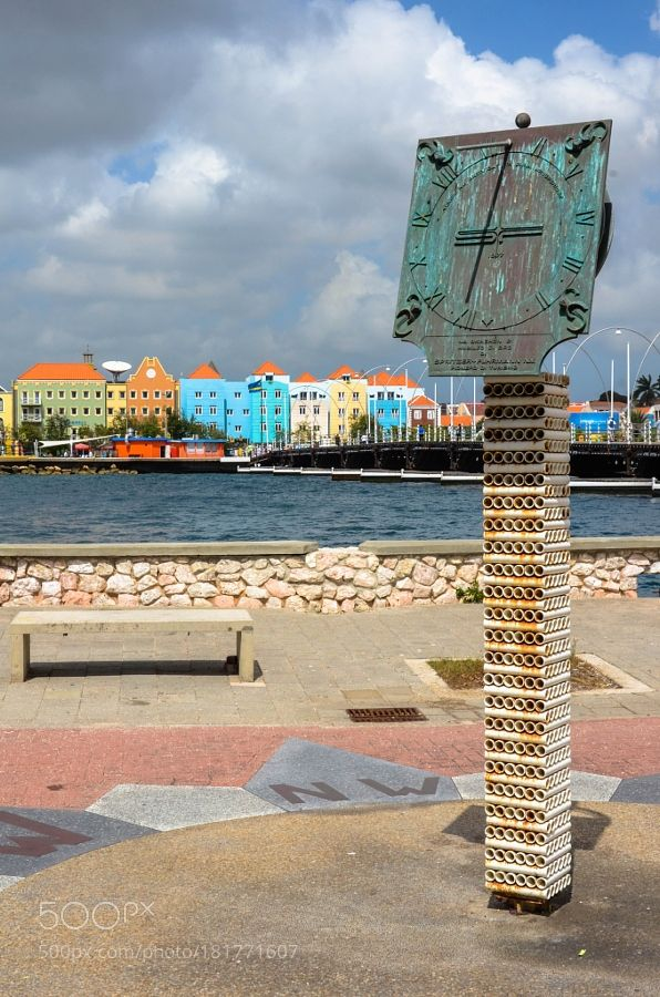 http://500px.com/photo/181771607 Colour Town by chriswtaylor -Willemstad Curacao.. Tags: yellowskycityseabeautycolorwaterbeachtravelbluesunlightcloudsoceanarchitecturesummerbeautifulcolourstatueclockcolorfulcolourfulCaribbeanSouth AmericaDutchWillemstadCuraçao