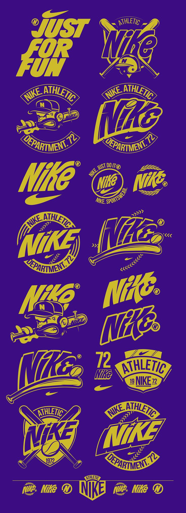 NIKE. ATHLETIC DEPARTMENT. 72 on Behance