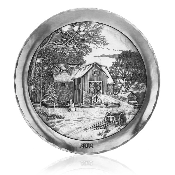 2012 Winter Splendor Pewter Annual Christmas Plate