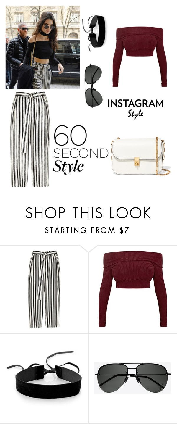 """Untitled #121"" by putrinaini on Polyvore featuring River Island, Simons, Yves Saint Laurent, Valentino, 60secondstyle and PVShareYourStyle"