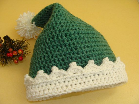 Elf Hat PATTERN, Newborn Hat, Christmas Elf Hat, Elf Costume, Elf Pattern , Christmas Gifts, Personalized Christmas Hat, Girls, Boys Elf Hat