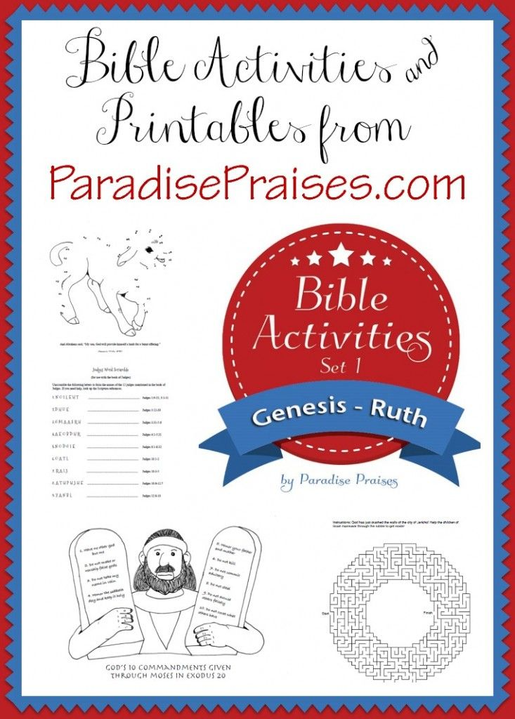 It is a photo of Massif Free Printable Children's Bible Lessons