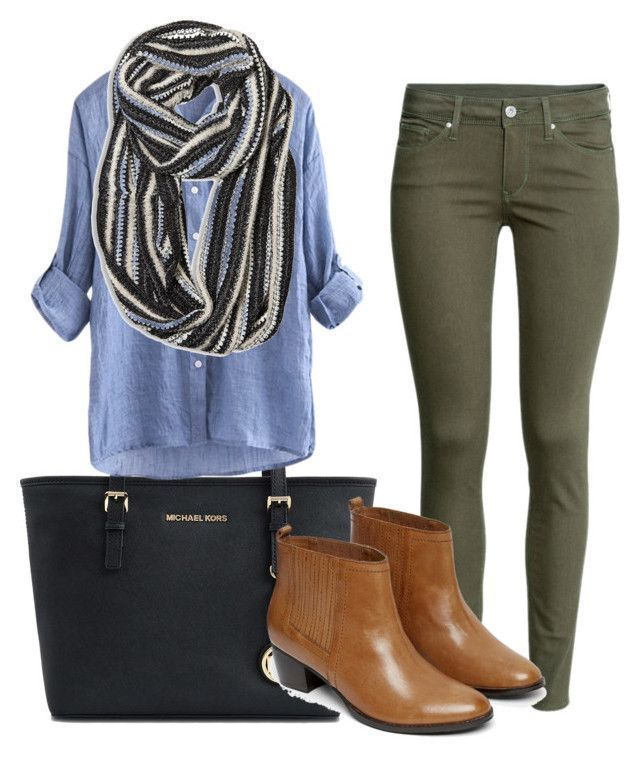 """""""young teacher outfit #5"""" by womack470 on Polyvore featuring Michael Kors, H&M, Avenue and Warehouse"""
