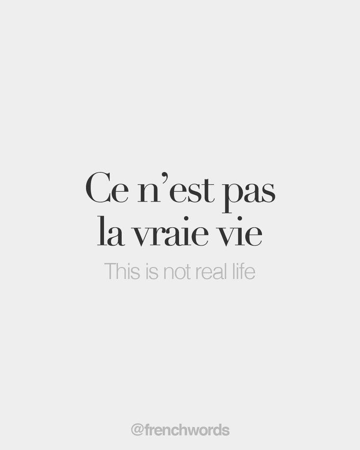 Ce n'est pas la vraie vie • This is not real…