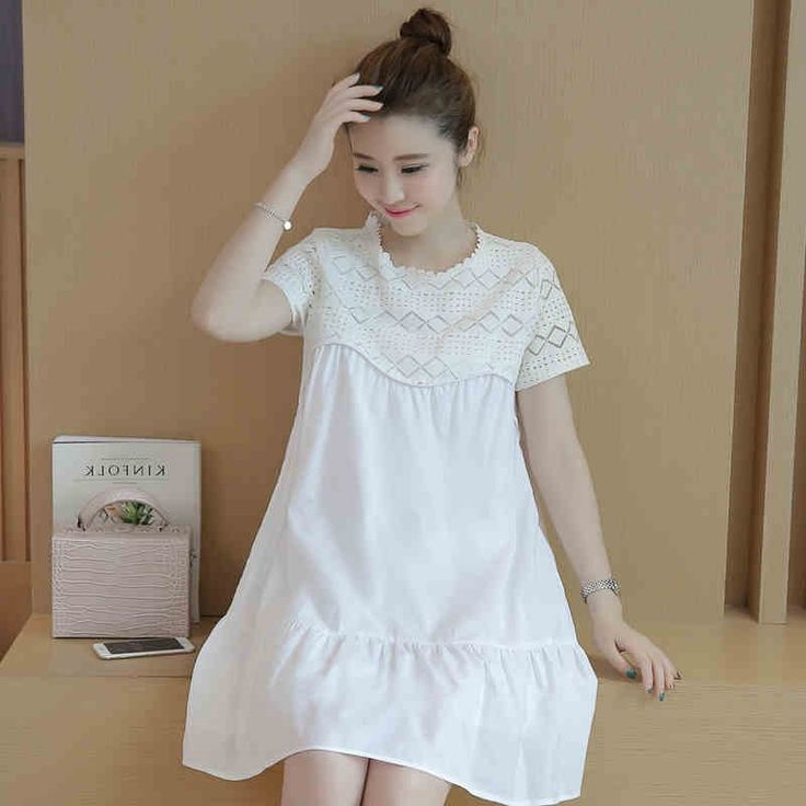 39.51$  Buy here - https://alitems.com/g/1e8d114494b01f4c715516525dc3e8/?i=5&ulp=https%3A%2F%2Fwww.aliexpress.com%2Fitem%2FSummer-Clothes-For-Pregnant-Women-Maternity-Dress-Gestantes-Pregnancy-Korean-Materntiy-Clothes-Wear-Big-Sizes-Tunic%2F32691562566.html - Summer Clothes For Pregnant Women Maternity Dress Gestantes Pregnancy Korean Materntiy Clothes Wear Big Sizes Tunic 502181