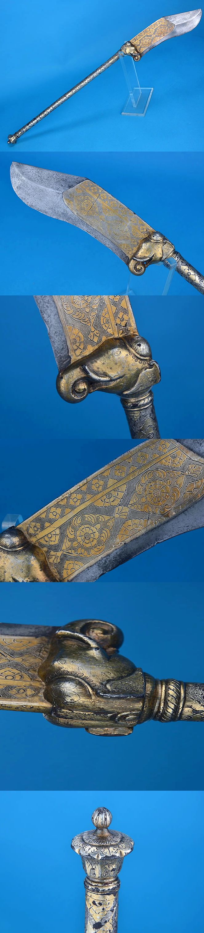 Bhuj Katti Place of Origin: India Date: 19thC. I'm not into weapons at all.. But wow!