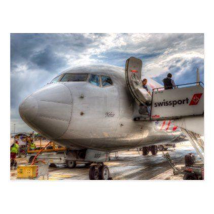 Pegasus Airlines B 737 Postcard - postcard post card postcards unique diy cyo customize personalize