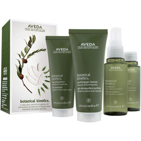 Aveda Botanical Kinetics Skin Care Starter Set for Oily Skin featuring polyvore, beauty products, skincare, face care, aveda, botanics skin care, aveda skin care and aveda skincare