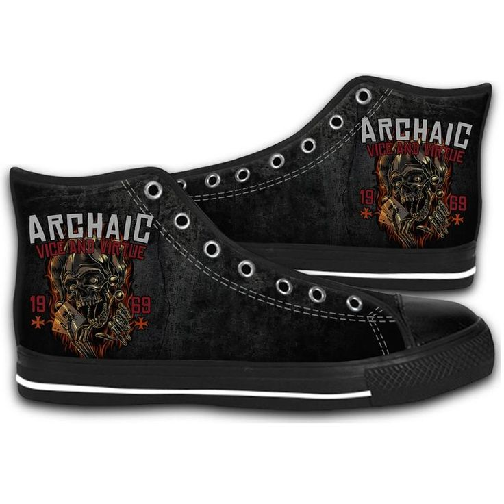 ARCHAIC JOKER SKULLS HIGH TOP CANVAS SHOES MEN'S & WOMEN'S RUNNING   #sport,#running,#shoes,#new