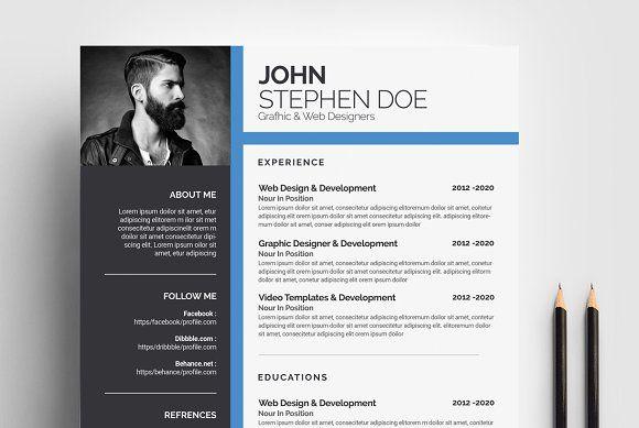 Microsoft Word Resume Template  @creativework247