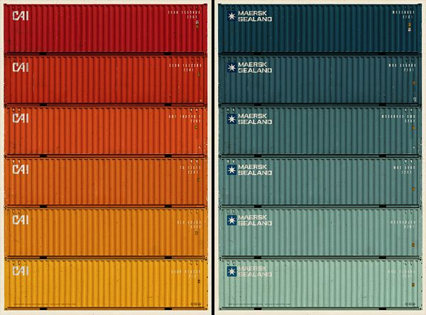 Colorstexture Of Shipping Containers Container