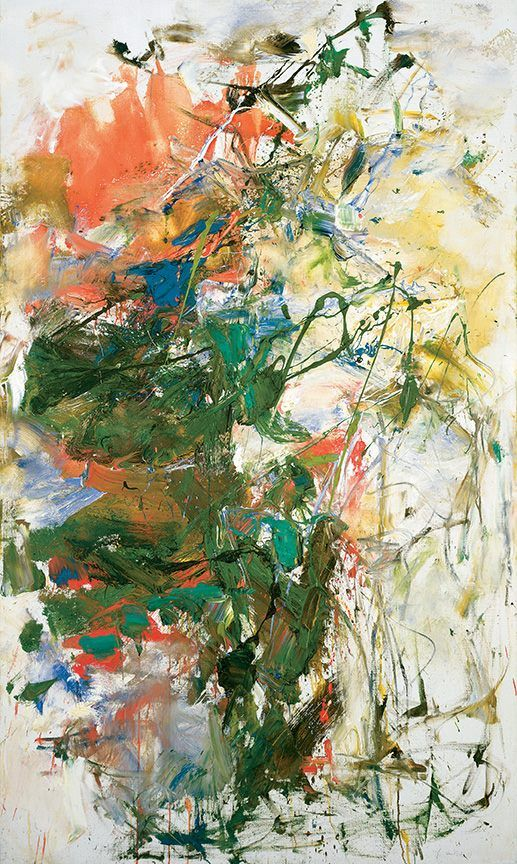"""Untitled"" (1960) by Joan Mitchell - Oil on canvas, 63.8 x 38.1 inches. Private collection. © Estate of Joan Mitchell."