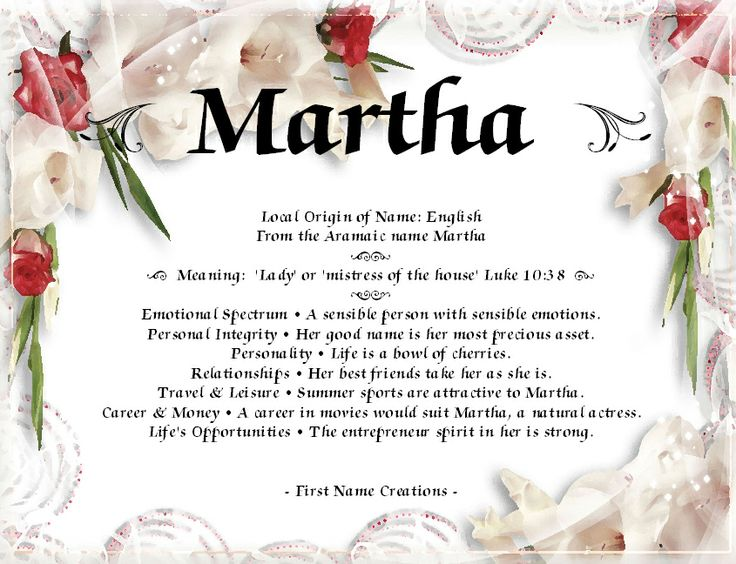 Martha name meaning | What does my name mean? | Pinterest ... - photo#19