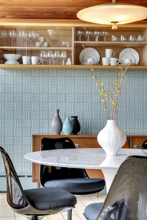 """Midcentury masterpiece 1955 time capsule """"tile house"""" in Minneapolis — every room full of exquisite tile designs — 69 photos"""
