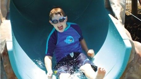 Not one, but two, waterslides! Our pool is the biggest resort pool on the Whitsunday Coast and it's heaps of fun for everyone! You don't have to be a little kid to have a go on our waterslides either. http://www.adventurewhitsunday.com.au/play/play-with-us/