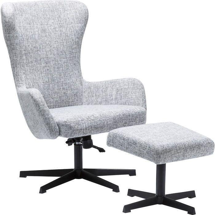Кресло вращающееся + табурет Montana Grey - KARE Design