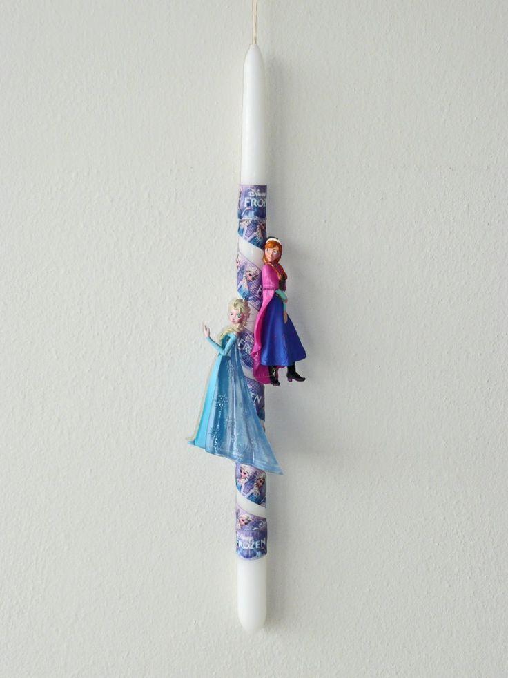 Λαμπάδα Disney Frozen-Elsa & Anna
