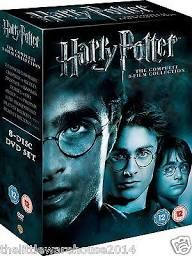 Harry Potter 1-8 Complete 8 Film Collection Dvd Box Set Brand & Sealed