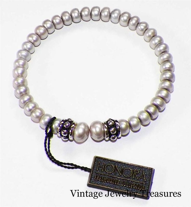 Pandora Grey Pearl Earrings: HONORA Grey Cultured Pearl Sterling Silver Coil Cuff