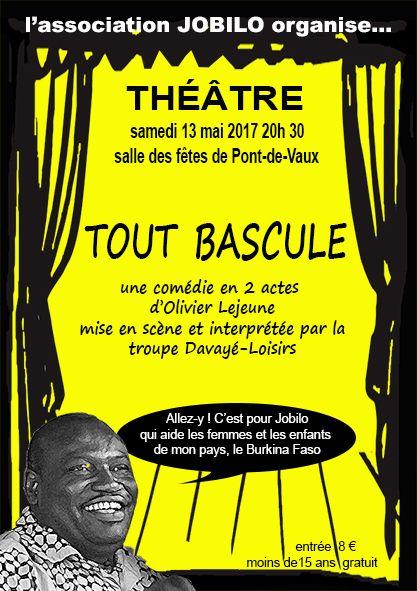 Une soirée théâtrale de Jobilo en faveur du Burkina Faso.