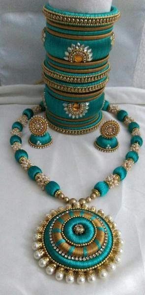 Green Pearl Silk Thread set