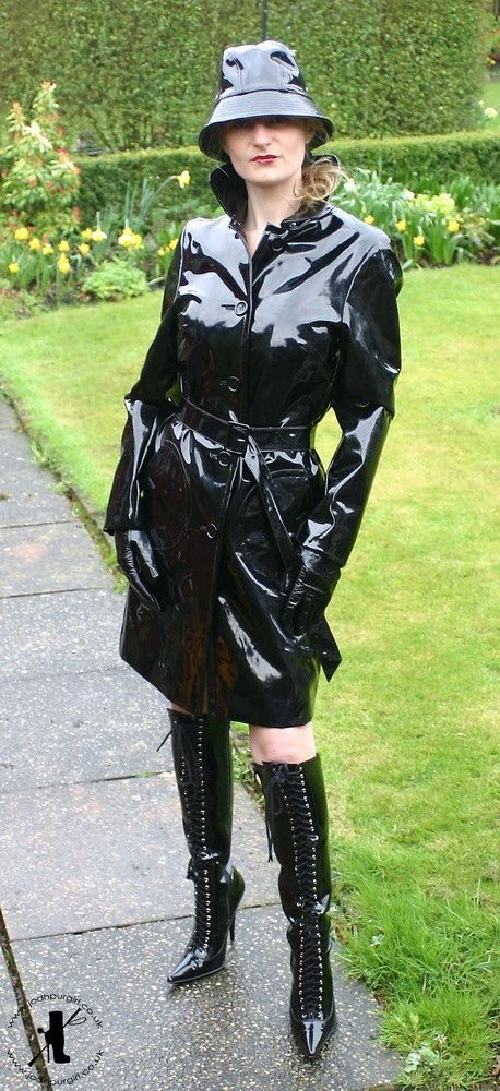Shiny Black PVC Coat