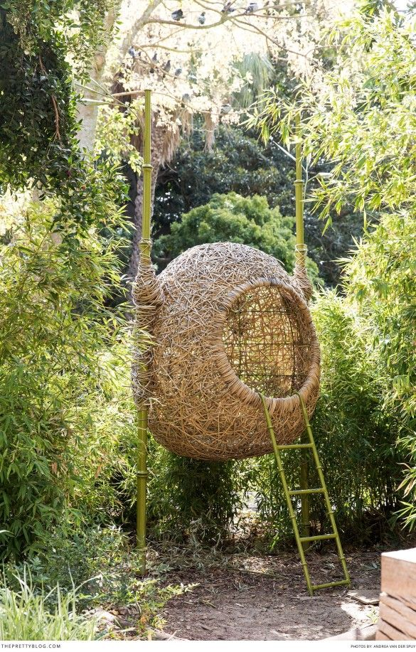 A 'nest' chair at the Company Gardens in Cape Town. Photographer: Andrea van der Spuy