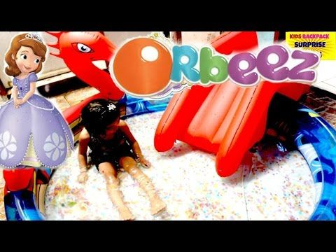 HUGE ORBEEZ POOL SURPRISE Video Sofia the First and Friends Super Giant Orbeez Pool Gallore - YouTube