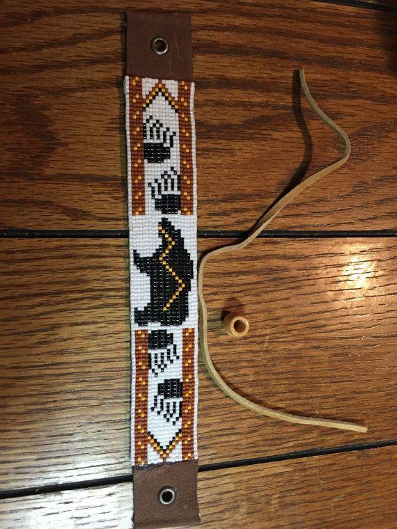 Bear Totem Native American Inspired Bear Paw Print