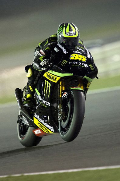 Cal Crutchlow Photos - Cal Crutchlow of Great Britain and Monster Yamaha Tech 3 heads down a straight during the MotoGp of Qatar - Previews at Losail Circuit on April 4, 2013 in Doha, Qatar. - Cal Crutchlow Photos - 993 of 1280