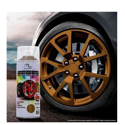 Spray Envelopamento Liquido Dourado 400ml AU422 Multilaser