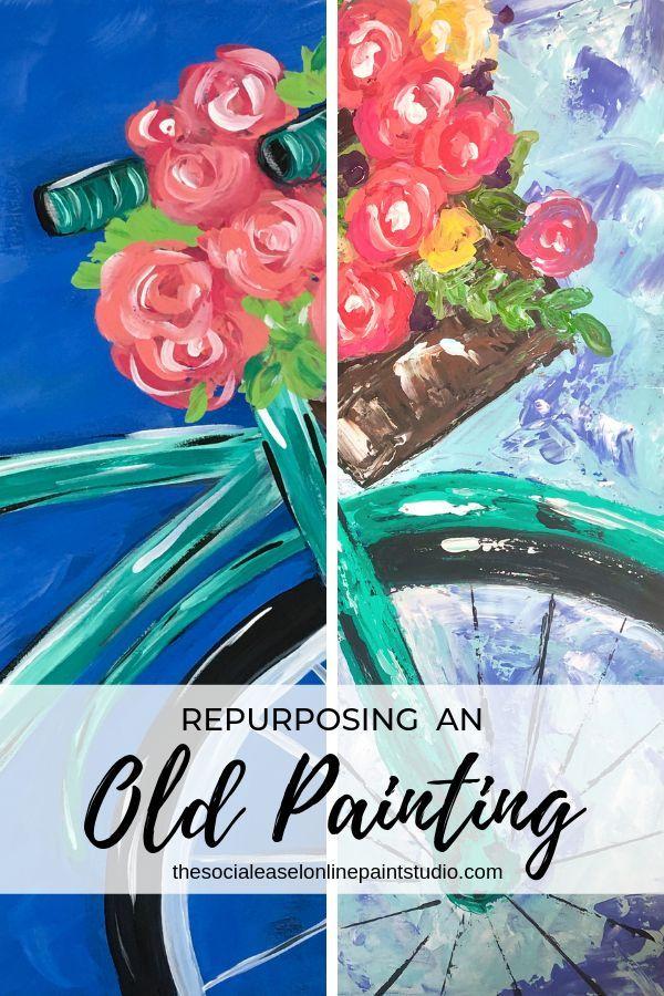 Repurposing An Old Painting Online Painting Old Paintings Online Painting Classes