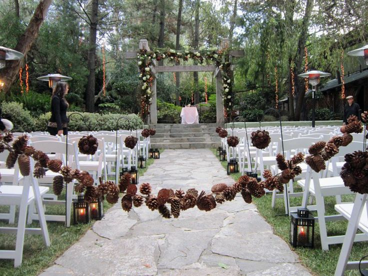 floral friday: pine cone bouquet - A Northwoods Wedding » A