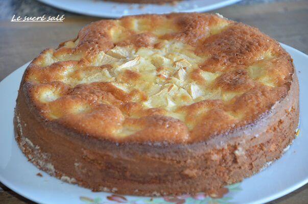 gâteau au yaourt aux pommes moelleux, recette gateau au yaourt aux pommes moelleux et léger facile et rapide pour le gouter