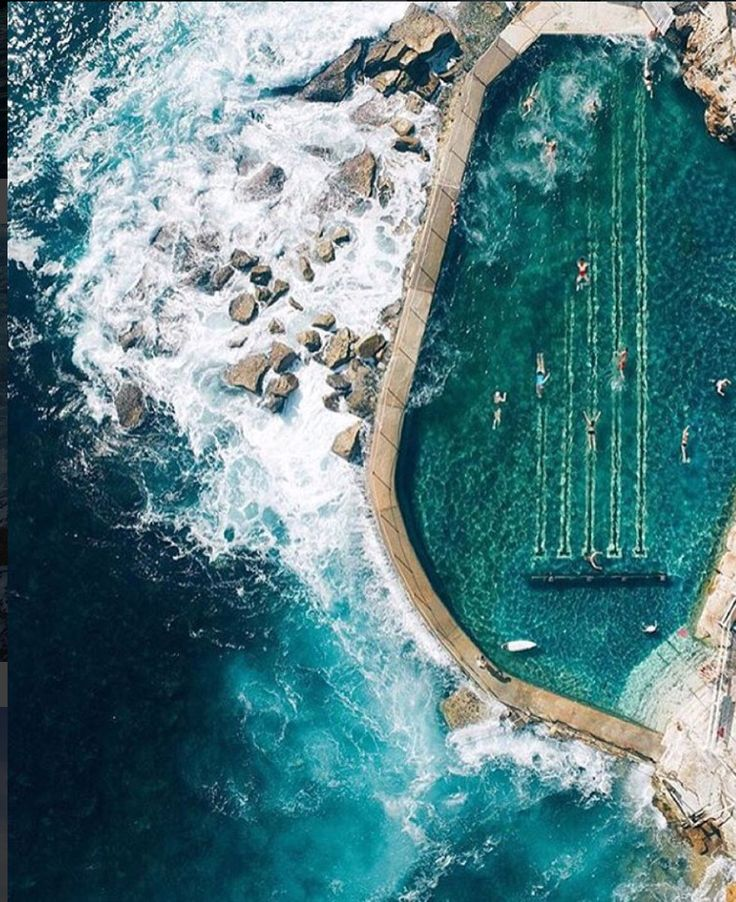 Bronte Swimming Pool Sydney, Australia. Dream or reality? You decide. www.thetravelstation.com