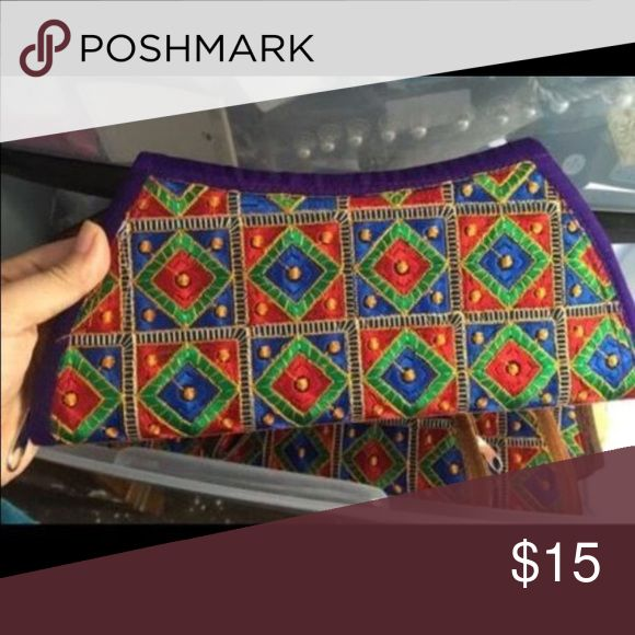 Multi color clutch Indian multi color clutch Bags Clutches & Wristlets
