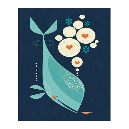 #Print #poster   Whale Has A Friend #TracyWalker via themodernbaby.co.uk