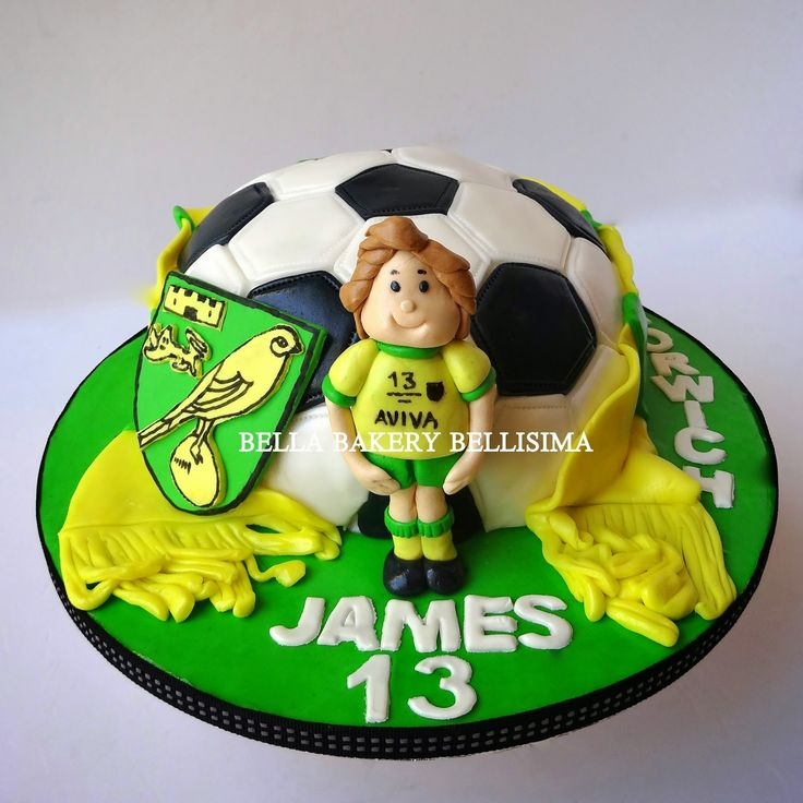 NORWICH FOOTBALL CLUB CAKE