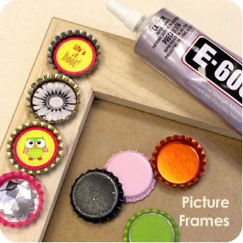 50 best bottle cap crafts images on pinterest bottle for Beer bottle picture frame