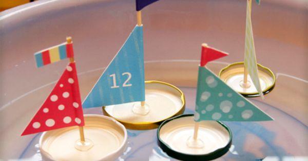 Jolis voiliers On transforme des couvercles de bocaux en charmants petits voiliers. Une super-idée récup' pour nos petits matelots.   Pinterest   Bricolage, Bo…