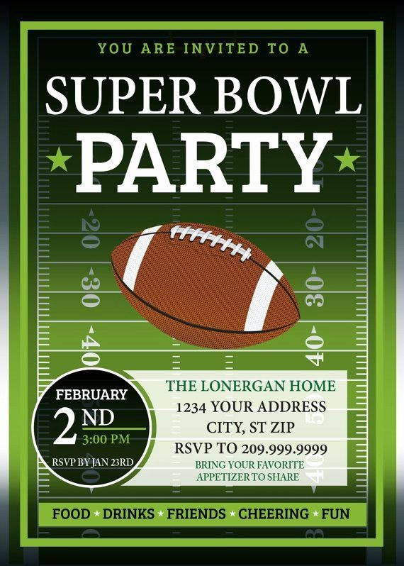 Super Bowl Party Invitation Template Lovely Super Bowl Party Invitation In 2020 Super Bowl Party Invitations Super Bowl Invitations Superbowl Party